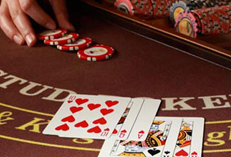 Casino Party Events rental Caribbean Stud Poker, Caribbean Stud Poker for rent Party Kings in Vancouver BC
