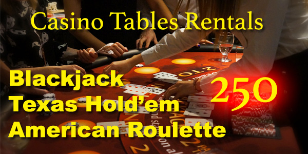 Casino Tables Rentals Catering Casino Tables for Rent | Casino Party Events in Vancouver BC,Blackjack party in the office or on the ...